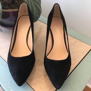 Nine West Suede Wedge Pointed Toe Heels